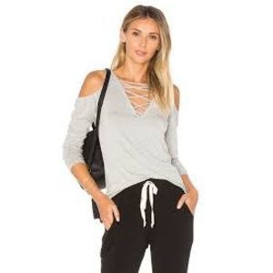 Project Social Cold Shoulder V-Neck Top